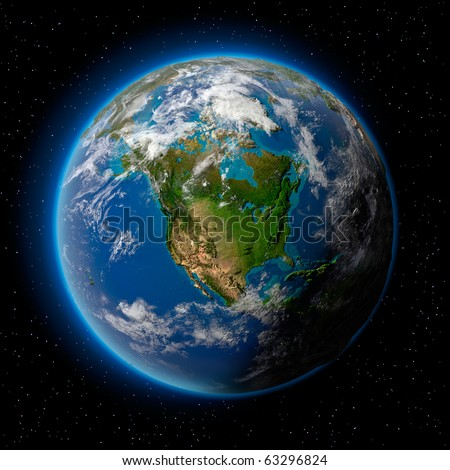 Ocean planet stock images royalty free images vectors for 3d map of outer space