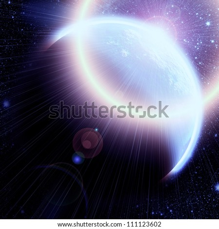 Planet in the space. Universe concept.