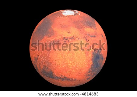 Planet mars the traditional god of war - stock photo