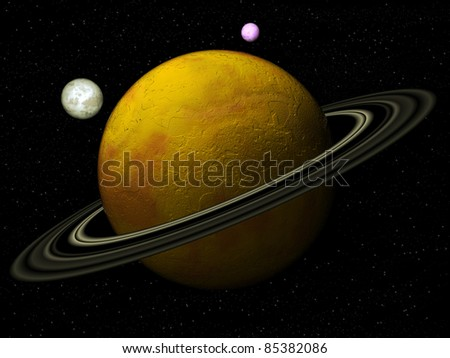 Planet with satellites
