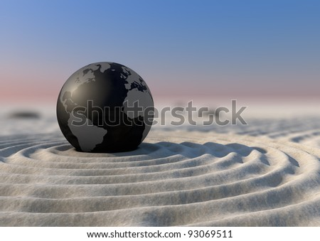 Planet Zen - stock photo