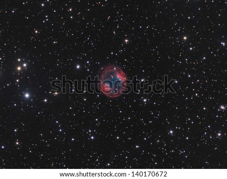 Planetary Nebula Jones-Emberson 1 - A planetary nebula in the constellation Lynx - stock photo