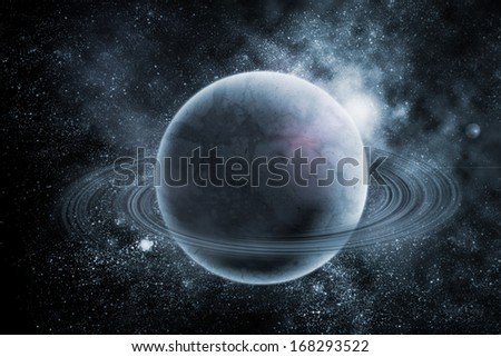 Planets in fantastic space. Elements of this image furnished by NASA