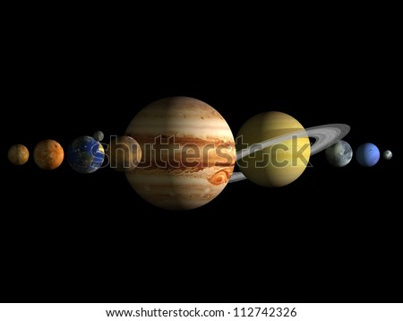 Planets solar system - stock photo