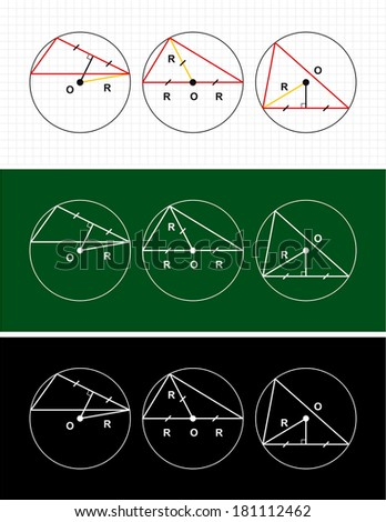 planimetry. circle and triangle