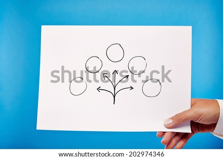 Planing! Business hand showing billboard - stock photo