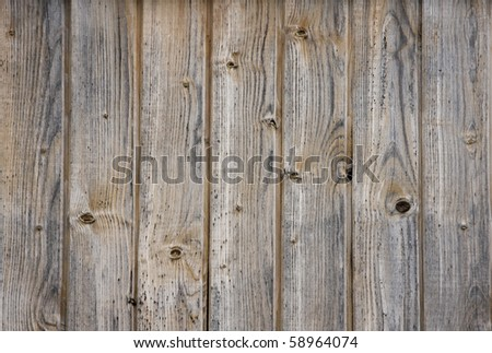 Plank background of old weathered wood - stock photo