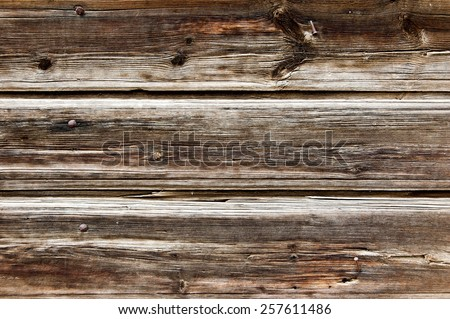 Plank background. Old wood fence closeup texture. - stock photo