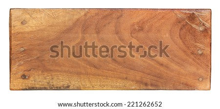 plank of wood isolated on white background with Clipping Path. - stock photo