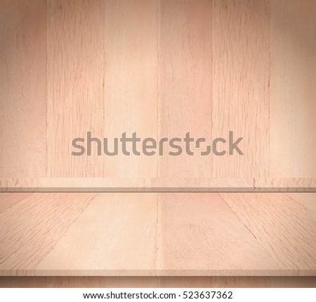 Plank wood interior room for texture and background. Suitable use for montage or made marketing your product.