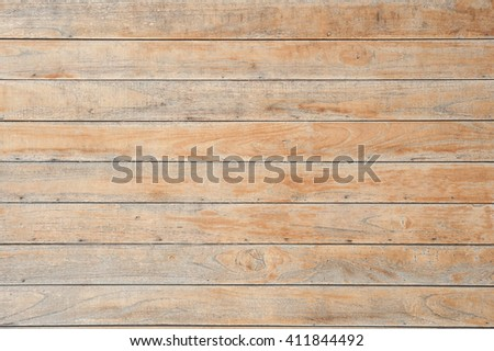 Plank Wood Wall For text and background - stock photo
