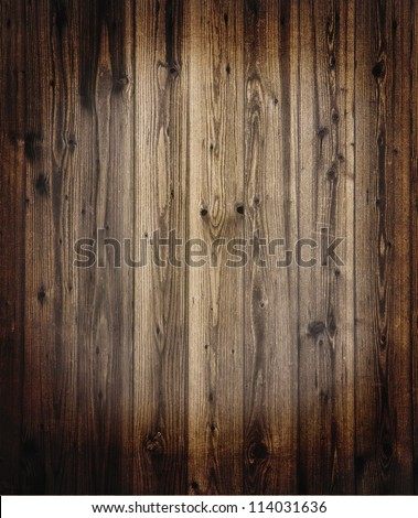 Plank wooden background, textured with grunge effects - stock photo