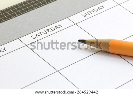 Planning A Weekend - stock photo