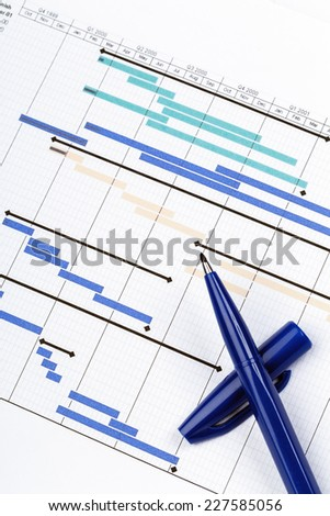 Planning Chart for Financial Project  - stock photo
