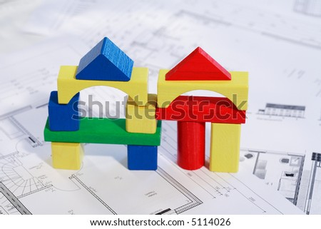 Planning new family house - stock photo