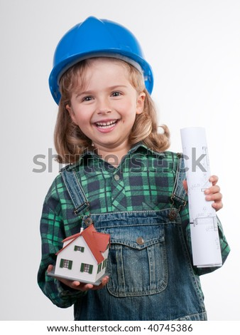 Planning new house - stock photo
