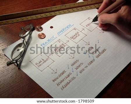 Planning on Paper - stock photo