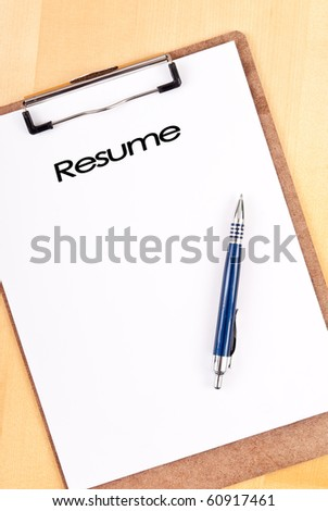Planning Out Your Resume - stock photo