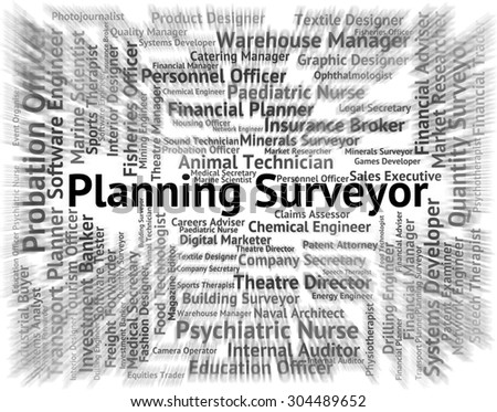 Planning Surveyor Indicating Position Recruitment And Word