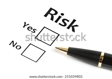 planning the business risk. Risk concept - stock photo