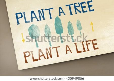 Plant A Tree Life Ecology Concept - stock photo