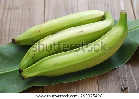 plantain banana - stock photo
