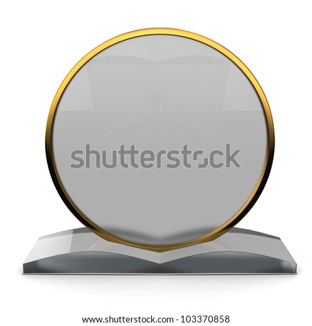 Plaque Award Made Glass Isolated On Stock Illustration - Award plaque template