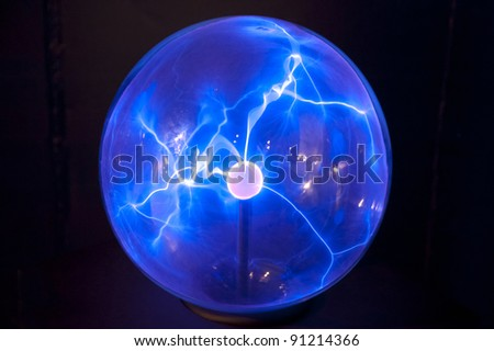 Plasma globe - stock photo