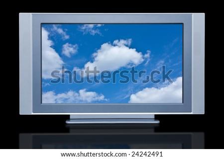 flat screen tv clipart. plasma lcd hdtv display flat screen tv clipart