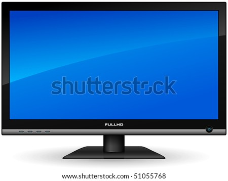 Plasma LCD TV - stock photo