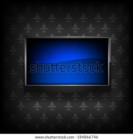 Plasma LCD TV. Raster copy. - stock photo