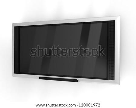 plasma tv set - stock photo