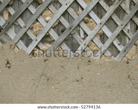 Plaster and lath background - stock photo