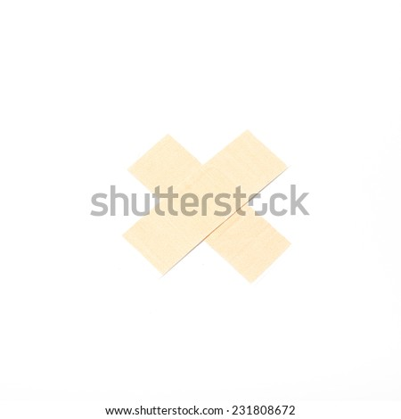 plaster bandage on a white background - stock photo