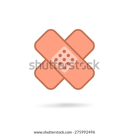 Plaster icon - stock photo