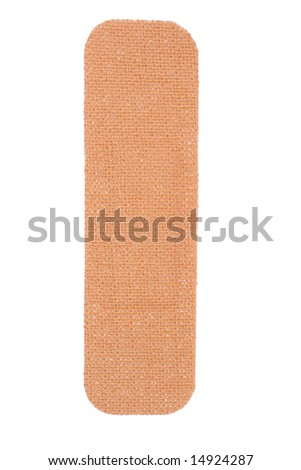 plaster isolated (with clipping path) - stock photo