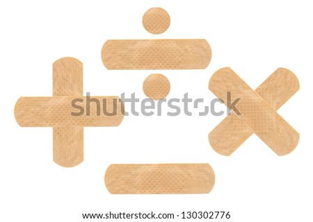 Plaster or band aid isolated on white, clipping path included