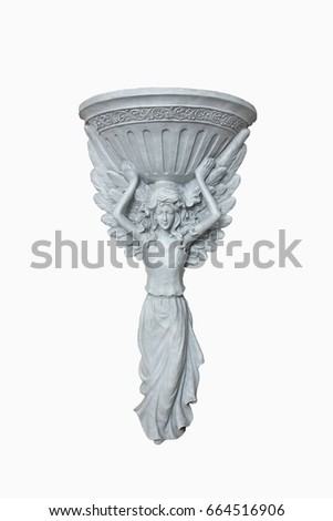 Plaster stucco decorations on isolated white background.