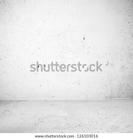 Plaster white industrial room surface - stock photo