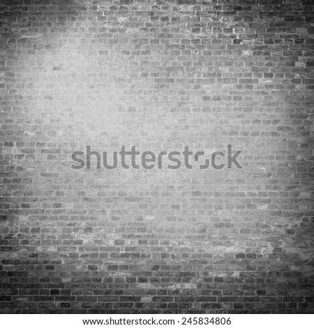 plastered wall texture background black and white background with vignette illustration - stock photo