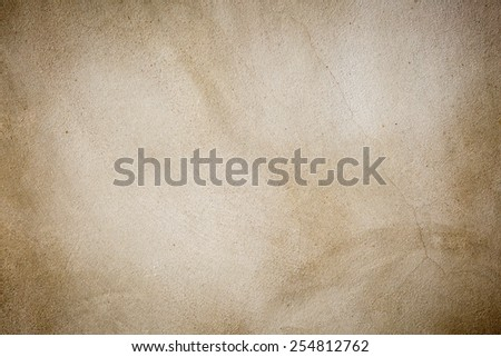 plasterer concrete on wall of house construction - stock photo