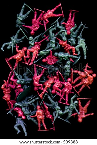 Plastic Army toy figures