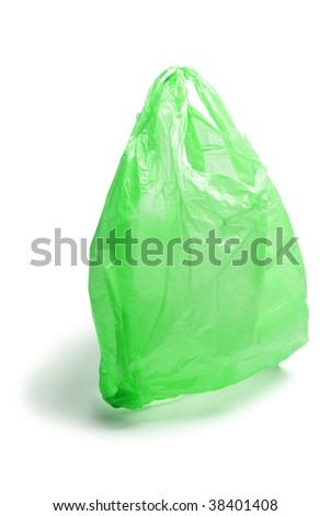 Plastic Bag on Isolated White Background
