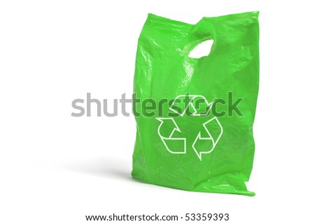 Plastic Bag on White Background - stock photo