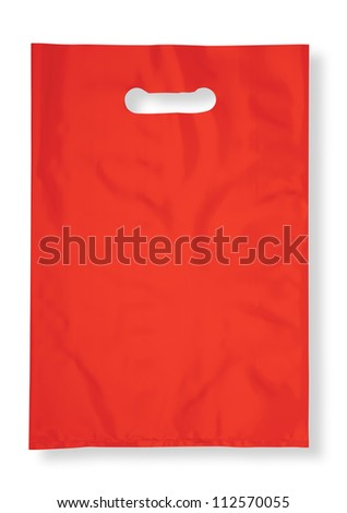 Plastic bag on white with shadow (with clipping path)
