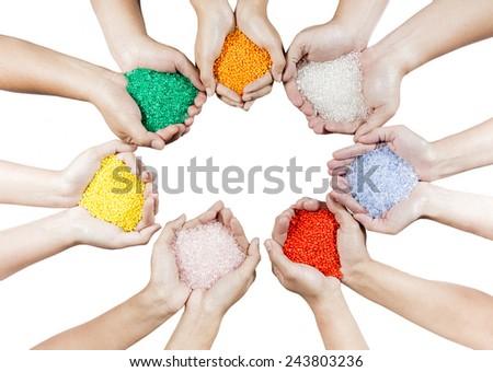 Plastic beads - stock photo