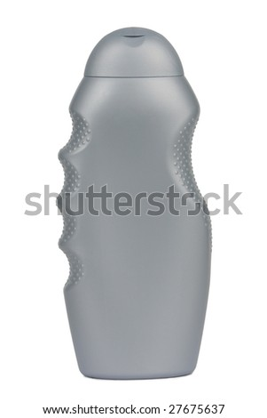 Plastic bottle for lotion, soap, shampoo, sunscreen etc. Isolated on white. Clipping path included.