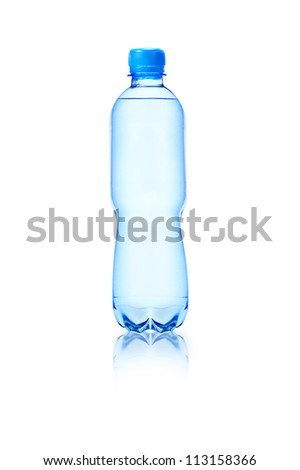 Plastic bottle of clean water - stock photo