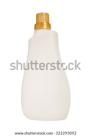 Plastic bottle of skin care product isolated on white background, Clipping path - stock photo