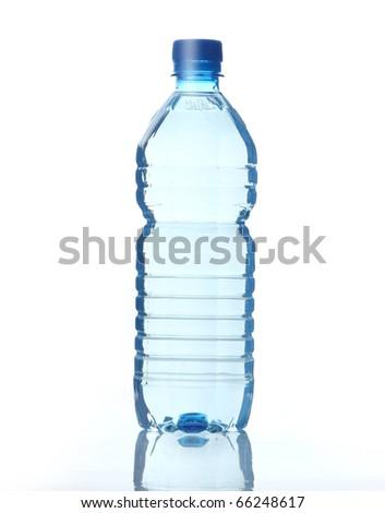 Plastic bottle of water - stock photo